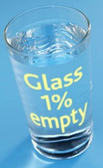 Glass 1% empty